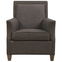 Darick Charcoal Gray with Walnut Stained Birch Armchair