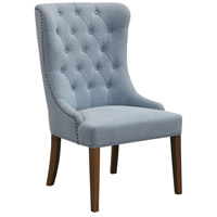 Rioni Light Slate Blue with Solid Oak Wing Chair