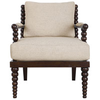 Lachlan Rich Mahogany Stain and Blended Oatmeal Accent Chair