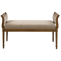 Kosey Warm Pecan with Malted Milk Chenille Bench