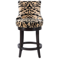 Callix 41 inch Tiger Print Fabric and Dark Walnut Counter Stool, Tiger Print