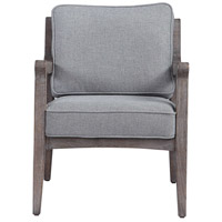 Jirina Oak and Light Seafoam Woven Blend Fabric Accent Chair