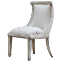Uttermost Anesio Armless Chair in Antique Bone 23603