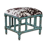 Uttermost Chahna Small Bench in Aqua Blue 23605 photo thumbnail