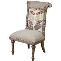 Uttermost Bosley Armless Chair in Mocha Gray 23606
