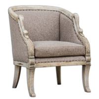 Uttermost Swaun Armchair in Antique Bone 23609