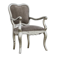 Uttermost Meresa Accent Chair in Antique Silver Leaf 23622