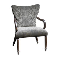 Uttermost Lagan Accent Chair in Silver 23636