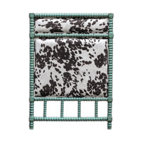 Chahna Aqua Blue Twin Headboard