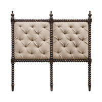 Uttermost Andaluz Queen Headboard in Rubbed Black 23705