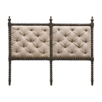 Uttermost Andaluz King Headboard in Rubbed Black 23706