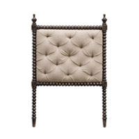 Uttermost Andaluz Twin Headboard in Rubbed Black 23707