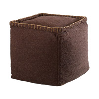 Uttermost Dakari Pouf in Dark Brown 23950