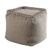 Uttermost Anaya Pouf in Dark Oatmeal 23951