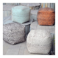 Valda Light Aqua Toned Cotton Ottoman