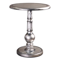 Baina 24 inch Brushed Silver Accent Table Home Decor