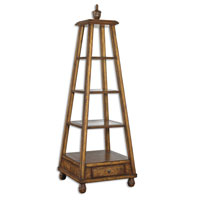 Uttermost 24016 Niveles 72 X 24 inch Richly Antiqued Distressed Willow Oak Etagere thumb