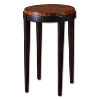 Uttermost 24050 Pierce 29 X 18 inch Warm Honey Toned Zebra Wood Veneer Round Accent Table thumb