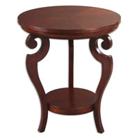 Uttermost 24078 Portia 26 X 22 inch Rich Glowing Cherry Accent Table thumb