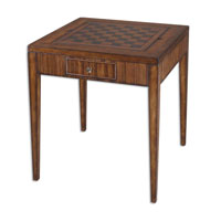 Uttermost Eli Game Table in Rich Honey-Toned Zebra Wood 24088 photo thumbnail