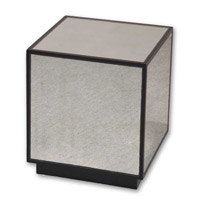 Uttermost Matty Mirrored Cube in Aged Black 24091