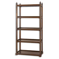 Uttermost Brearly Etagere in Stately Framework Of Poplar Solids 24126