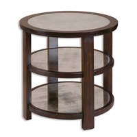 Uttermost Monteith Lamp Table in Dark Rubbed Aubergine 24127