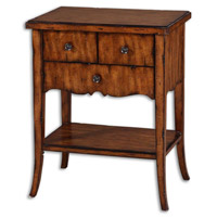 Uttermost Carmel End Table in Casual Styling In Warm Old Barn 24140