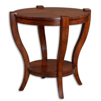 Uttermost Bergman End Table in Sleek Legs Carved From Solid Poplar 24142