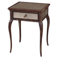 St. Owen 19 inch Time-Worn Shades Of Wheat And Russet End Table Home Decor