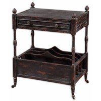Uttermost Phineas Magazine Table in Painted Slate Black 24158