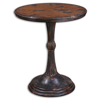Uttermost Breton Accent Table in Heavily Aged Oak And Mahogany Veneers 24163