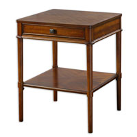 Uttermost 24192 Prospero 25 X 20 inch Warm Brown Cherry Veneer End Table thumb