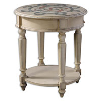 Uttermost 24204 Sailor 30 X 26 inch Classic Navy And Red Accent Table thumb