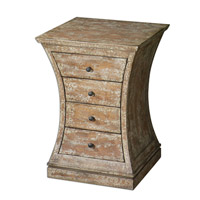 Uttermost Avarona Accent Chest Accent Furniture in Almond Stained Distressed Birch Veneer 24214
