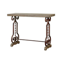 Uttermost 24219 Reece 45 inch Distressed Burnt Ivory Console Table thumb