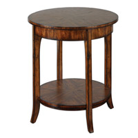 Uttermost Carmel Lamp Table in Casual Styling In Warm Old Barn 24228