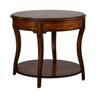 Uttermost Corianne Lamp Table in Cedar Burl Cherry Primavera And Mahogany 24231