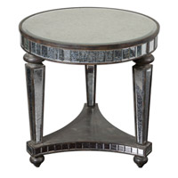 Uttermost Sinley Accent Table in Distessed Ebony Stained Wood 24235 photo thumbnail