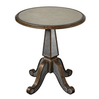 Eraman 27 X 25 inch Antiqued Rustic Gold Accent Table
