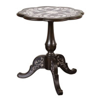 Uttermost Aedelie Accent Table in Ebony Stained Birch Wood 24237 photo thumbnail
