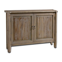 Uttermost Altair Console Cabinet in Reclaimed Fir Wood with Stony Gray Wash 24244