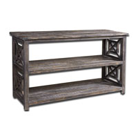 Uttermost 24249 Spiro 52 inch Brushed Black Reclaimed Fir Wood Console Table thumb