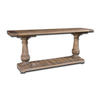 Stratford 71 inch Distressed Patina with Stony Gray Wash Console Table