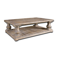 Uttermost Stratford Cocktail Table in Distressed Patina with Stony Gray Wash 24251