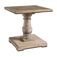 Uttermost Stratford End Table in Distressed Patina with Stony Gray Wash 24252