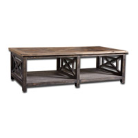 Spiro 56 inch Brushed Black Reclaimed Fir Wood Cocktail Table Home Decor