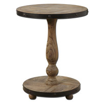 Kumberlin 22 inch Weathered Natural Fir Wood Round Table Home Decor