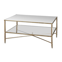 Henzler 38 X 28 inch Gold Leaf Coffee Table Home Decor