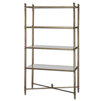 Uttermost Henzler Etagere in Antiqued Gold Leaf 24277